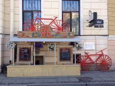 кафе ЯТЬ  Embankment river Moyka, 16. Sankt-Peterburg, Rússia.  May, 2016.