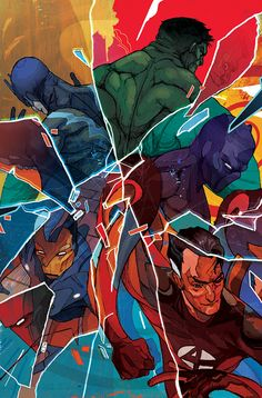 Marvel Comic Covers by Christian Ward on Behance | Digital | Art |  Drawing | Illustration | Comic | Cover | Covers | Super | Heroes | Superheroes | Hero | Colorful |