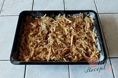 Sypaná hrnková buchta s jablky | NejRecept.cz Cereal, Cooking, Breakfast, Food, Top Recipes, Oven, Food Food, Kitchen, Morning Coffee