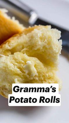 Sweet Dinner Rolls, Dinner Rolls Recipe, Potato Rolls Recipe, Low Sugar Recipes, Baking Recipes, Bread Recipes, Homemade Rolls, Homemade Breads, Shepherds Pie Rezept