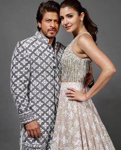 Shahrukh Khan and Anushka Sharma Eid Outfits, Bollywood Outfits, Pakistani Outfits, Bridal Outfits, Bollywood Fashion, Indian Outfits, Pakistani Kurta Designs, Pakistani Bridal Lehenga, Indian Lehenga