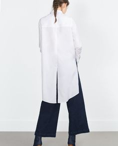 Shirt with long backside  from Zara