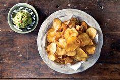 Recetas con batatas- Me gustó chips de batata con guacamole!