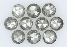 1.36 Ct Natural Loose Diamond Round Rose Cut Salt And Pepper 10 pcs I1 N5288 #Narshihagemandjewels