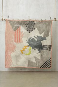 This is a quilt but I would love to make a wall hanging ceramic plate with a design similar to this one