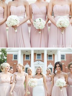 Pinned by Beauty & Lifestyle Bride Magazine www.blbride.com Pink Bridesmaids Dresses Photo