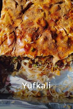 Yufkali pilavi pilaf in pastry turkey