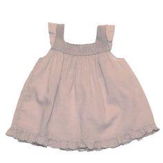 TOP BUHO CON TIRANTES DE PUNTO Y FALDÓN DE GASA de Búho  Más moda infantil en www.yosolito.es y www.yosolito.es/tienda