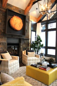 Downstairs Living Room at the 2014 HGTV Dream Home