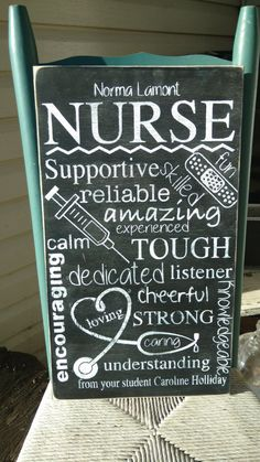 #nurse #nursegift #woodsigns Nurse sign personalized   subway art Wooden Sign  by MamaSaysSigns