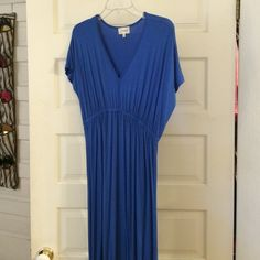 12a82999c7d Avaleigh cobalt blue maxi dress with short dolman sleeves. Purchased from  Gilt.