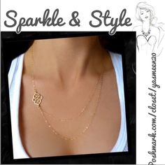 ✨Beautiful double layer necklace ✨ Simple and chic gold tone double layer necklace. Sparkle & Style Jewelry Necklaces