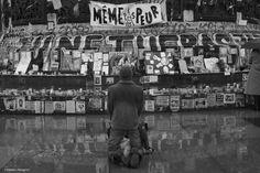 Not Afraid - Portrait réalisé Place de la République, Paris.