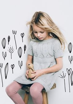 And She Was board Kids Knitting Patterns, Knitting For Kids, Crochet For Kids, Crochet Baby, Knit Crochet, Baby Barn, Knit Baby Dress, Baby Girl Dresses, Toddler Dress