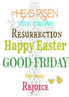 Happy #Easter #free #printable. Would look great on your table.