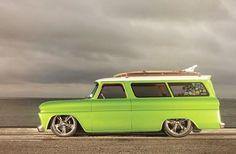 1966 Chevrolet Suburban Mr Gasket Side View