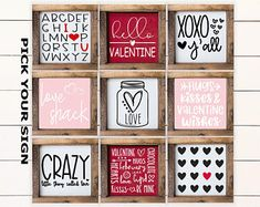 My Funny Valentine, Valentine Day Love, Valentine Day Crafts, Holiday Crafts, Holiday Fun, Diy Valentine's Signs, Wood Signs, Coffee Bar Signs, Coffee Bars