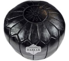 Hey, I found this really awesome Etsy listing at http://www.etsy.com/listing/159022056/set-of-2-moroccan-leather-black-pouf