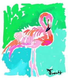 Pastel Flamingo Artwork