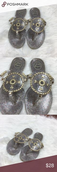 63596692a94610 Jack Rogers sparkle georgica jelly sandals Jack Rogers sparkle georgica  jelly sandals Excellent preowned condition Size