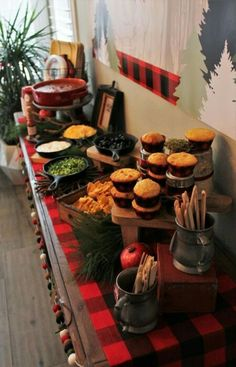 Chili bar at lumberjack party. Chili bar at lumberjack party. Chili Bar Party, First Birthday Parties, Boy Birthday, First Birthdays, Birthday Ideas, Campfire Birthday Parties, Bigfoot Birthday, Bonfire Birthday, Christmas Birthday Party