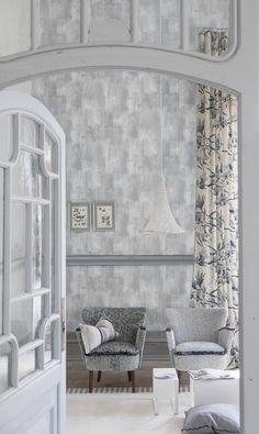 Designers Guild Marmorino textured wallpaper at Pedroso&Osorio  www.pedrosoeosorio.com
