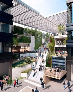 Ryan Giggs and Gary Neville unveil Manchester skyscraper plans by Make Architects Cultural Architecture, Atrium Architecture, Futuristic Architecture, Architecture Design, Backyard Canopy, Garden Canopy, Canopy Outdoor, Pvc Canopy, Ikea Canopy