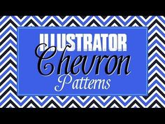 Create Chevron Patterns in Illustrator - How to Create Seamless Tiling Repeating Patterns - YouTube