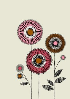 I Love Flowers No2 limited edition giclee print by EloiseRenouf, $25.00