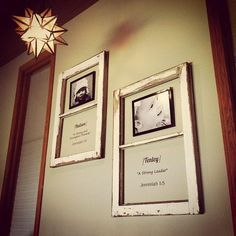 Wooden frames with meaning of baby name.  Would love to do a version of this for each of my children, using an ultra sound picture!