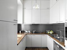decoracion de pequeñas cocinas modernas en blanco - Buscar con Google