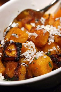 Caramelized Butternut Squash Recipe. Updated: Yummy! Tried this, it tastes great, even after using slightly less butter & sugar!