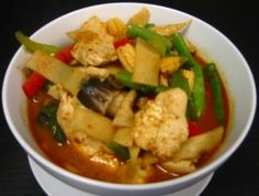 Jungle Curry: Thai red curry without coconut milk. From Thai Corner Noodles & Rice, San Antonio, TX