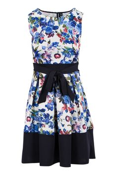 Floral Print Pleated Fit And Flare Dress Box Pleats, Saved Items, Occasion Dresses, A Line Skirts, Flare Dress, Fit And Flare, Color Blocking, Skater Skirt, Floral Prints