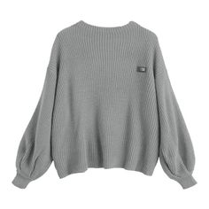 Oversized Chevron Patches Pullover Sweater Gray ($26) ❤ liked on Polyvore featuring tops, sweaters, over sized sweaters, oversized pullover, gray pullover, gray sweater and grey pullover