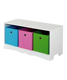 Look what I found on #zulily! White Three-Drawer Storage Bench by home basics #zulilyfinds. $39.99. Reg $80