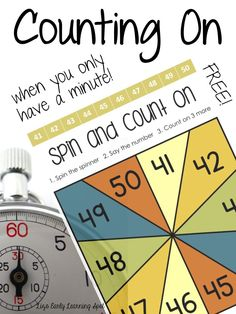 Counting On when you only have a Minute: free activities from Liz's Early Learning Spot. Teacher Freebies, Classroom Freebies, Math Classroom, Kindergarten Math, Teaching Math, Maths, Teaching Resources, Homeschooling Resources, Math Teacher