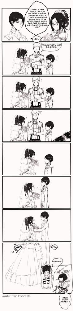 Shingeki no Kyojin, Erwin Smith, Mikasa Ackerman, Hange Zoë, Armin Arlert