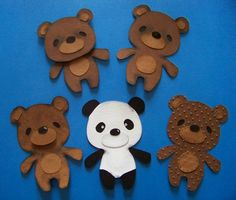 Altering bears from the Teddy Bear Parade cartridge.  How-tos are on the blog post.  #WithGlitteringEyes