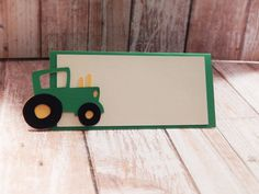 Tractor Themed Place Cards  Food Tents Qty 6 by OpulentOwlBoutique