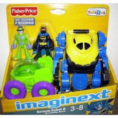 Fisher-Price Imaginext DC Super Friends Exclusive Batman Robot & The Riddler Rover Ryder Paw Patrol, Toddler Boy Toys, Fisher Price Toys, Lego Marvel Super Heroes, Riddler, Books For Boys, 6th Birthday Parties, Mini Games, Christmas Toys