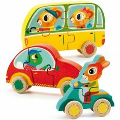 Shop Wooden Toys and Wooden Games from Djeco Wooden Toys range as well as Janod Toys, Sebra and Orange Tree Toys at Wooden Puzzles, Wooden Toys, 3d Puzzles, Puzzle Djeco, Puzzle Cube, Musical Toys, Baby Kind, Vintage Greeting Cards, Retro Home