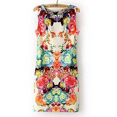 Dress Vintage stampa floreale senza maniche e Z & G Donna - EUR € 5.77