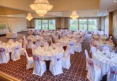 Tables are spaced comfortably with room to spare at Avalon Manor Banquet Center, Merrillville, Indiana. (219) 945-0888.