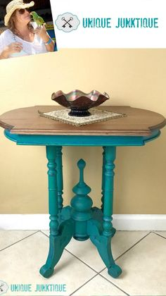Tranquil - Velvet Finishes Turquoise Painted Furniture, Distressed Furniture Painting, Chalk Paint Furniture, Cool Furniture, Shades Of Teal, Furniture Inspiration, Shabby Chic Furniture, New Homes, It Is Finished