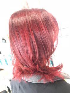 Fire red hair color Fire Red Hair, Red Hair Color, Amanda, Long Hair Styles, Thick Hair, Beauty, Red Hair Colour, Long Hairstyle, Big Hair
