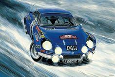 Free² Alpine Renault, Renault Sport, Vintage Racing, Vintage Cars, Sport Cars, Race Cars, Megane Rs, Automobile, Motorcycle Art