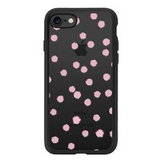 Pink Paint Dots - iPhone 7 Case And Cover (155 MYR) ❤ liked on Polyvore featuring accessories, tech accessories, iphone case, apple iphone case, pink iphone case, clear iphone case, iphone cover case and iphone cases