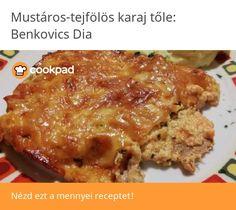 Mustáros-tejfölös karaj Lasagna, Bacon, Beef, Ethnic Recipes, Food, Meat, Essen, Meals, Yemek