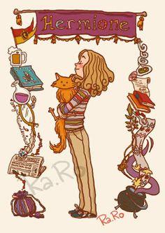 WallPotter: Hermione e Bichento/Crookshanks